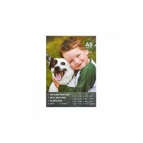 Фотопапір А5 пл. 160г/м2, 100 аркушів, матовий FBA5160/100/8