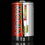 Батарейка Vipow - Extreme (BAT0094B) D (2 шт. / блистер), фото 2