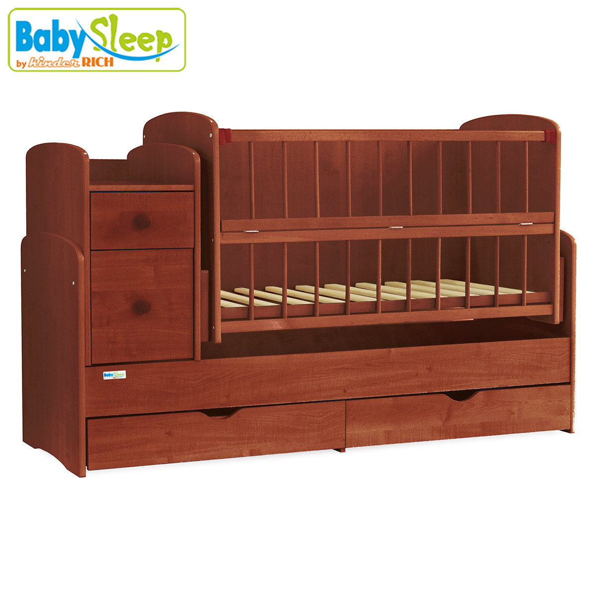 Ліжечко-трансформер Baby Sleep (Angela) DTP-S-B, Mahagoni