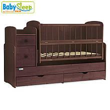 Кроватка-трансформер Baby Sleep (Angela) DTP-S-B, Nussbaum Dunkel
