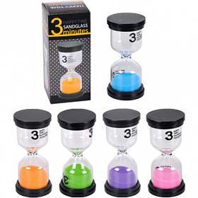 Песочные часы на 3 мин. стекло 4,5*9,5см X2-03