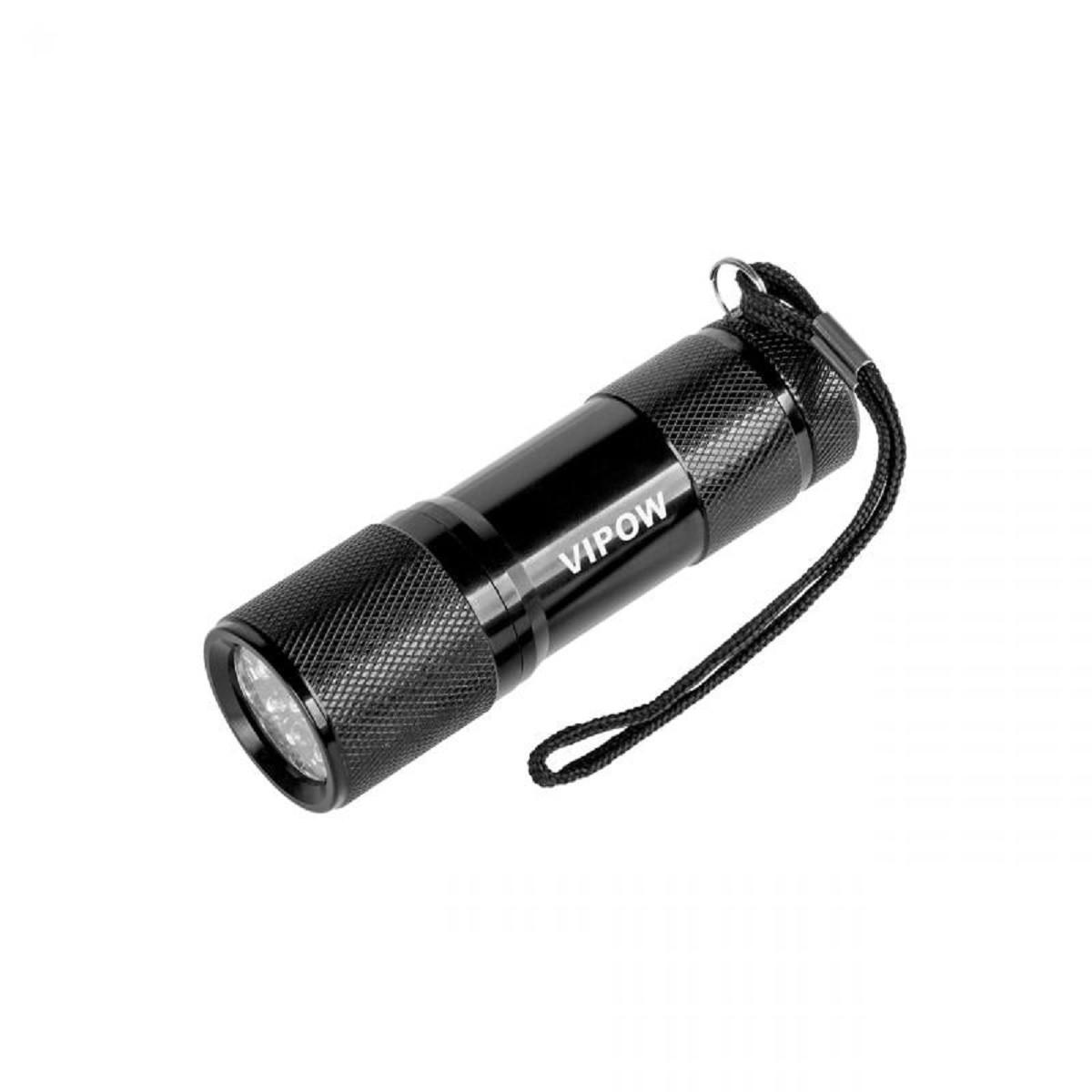 Фонарик Vipow (URZ0060) 9 LED, черный