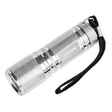 Фонарик Vipow (URZ0061) 9 LED, серебряный
