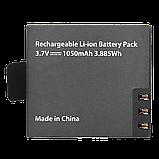 Зарядное устройство + батарея 1050 mAh EKEN / SJCAM / Kruger&Matz (KM0214S) Black, фото 3