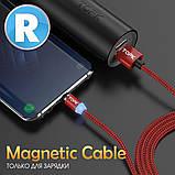 Кабель магнітний USB TOPK (R-line) Type-C (100 см) Red, фото 5