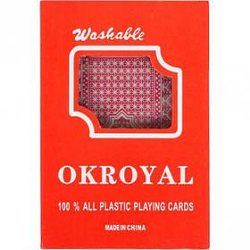 """Карти гральні, пластикові """"OKROYAL 1 колода"""