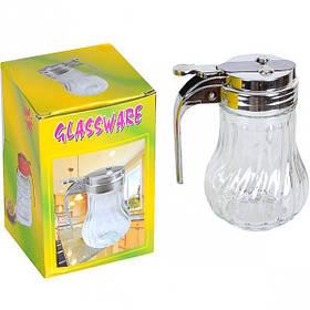 Сахарница с механическим дозатором Glassware 170мл 003PB/445706