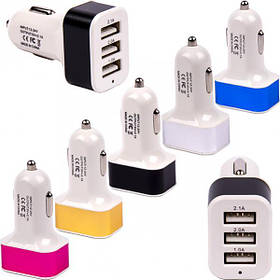 Автомобільний 3-USB адаптер 1.1 А/2.1 А/3.1 А YT005