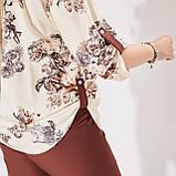 Жіночий літній брючний костюм двійка блуза і штани розмір батал: 50-52 54-56,58-60, фото 8