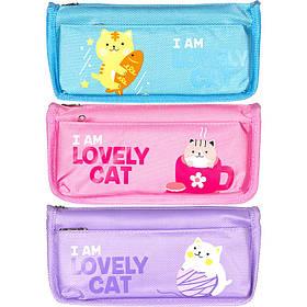 """Пенал-косметичка SY-7071 """"I am lovely cat"""" 21,0х10,0х5,0 см"""