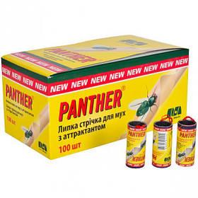 """Липкая лента от мух """"Panther"""", 100 штук 250787"""