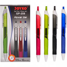 Ручка гелева GP-259 JOYKO 12 штук, чорна