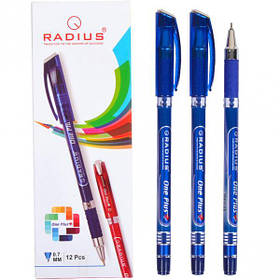 """Ручка """"One Plus"""" RADIUS 12 штук, синя 778439"""