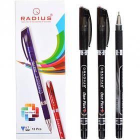 """Ручка """"One Plus"""" RADIUS 12 штук, чорна 778439"""