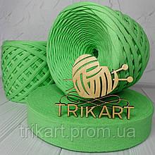 Трикотажная пряжа TRIKART Зелёное яблоко 7-9мм