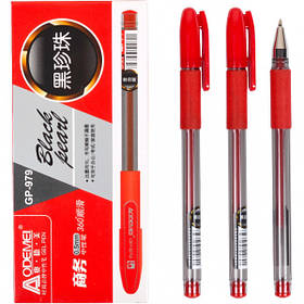 "Ручка гелева 979 ""Black pearl"" червона"