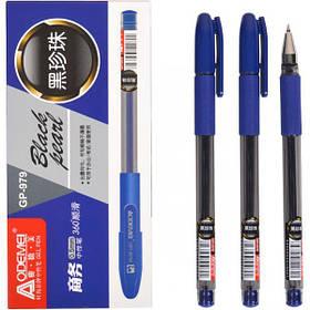 """Ручка гелева 979 """"Black pearl"""" синя"""