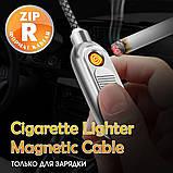 Кабель магнитный USB SKY с прикуривателем (R ZIP-line) Type-C (120 см) Grey, фото 5