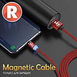 Кабель магнітний USB SKY (R-line) Type-C (100 см) Red, фото 5