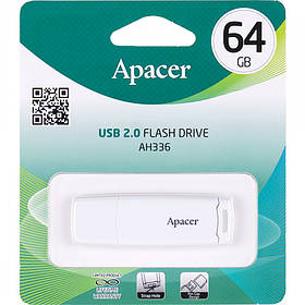 Флешка USB Apacer 64Gb AH336 White AP64GAH336W-1 915634/057272