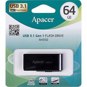 Флешка USB Apacer 64Gb AH350 black USB 3.0 AP64GAH350B-1 897855/044634