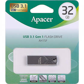 Флешка USB Apacer 32Gb AH15F Metal ashy USB 3.1 AP32GAH15FA-1 916464/064500