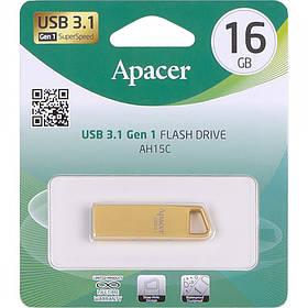 Флешка USB Apacer 16Gb AH15C Metal gold USB 3.1 AP16GAH15CC-1 915856/064479