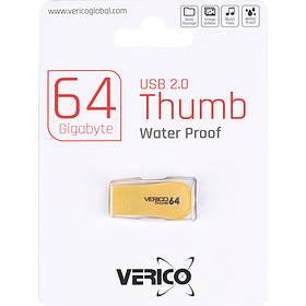 Флешка Verico USB 64Gb Thumb Yellow+Black 1UDOV-P1YB63-NN 605314/046620