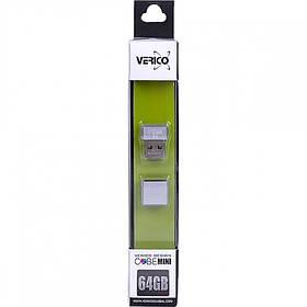 Флешка Verico USB 64Gb MiniCube Silver 1UDOV-M7SR63-NN 601774/056203