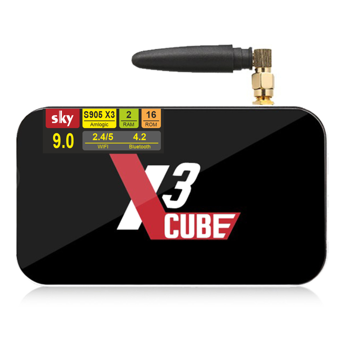 Android Smart TV приставка SKY (UGOOS X3 cube) 2/16 GB