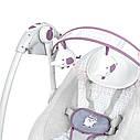 Детская качель для новорожденных  6505 светло-серая, фото 4