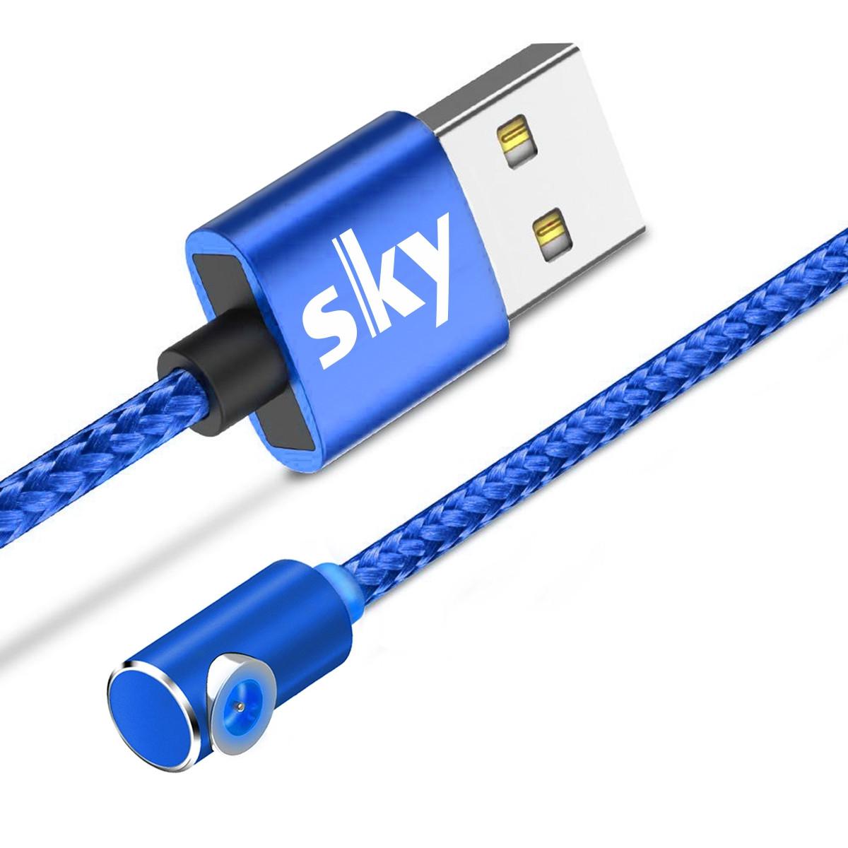 Магнитный кабель SKY без коннектора (L) для зарядки (100 см) Blue