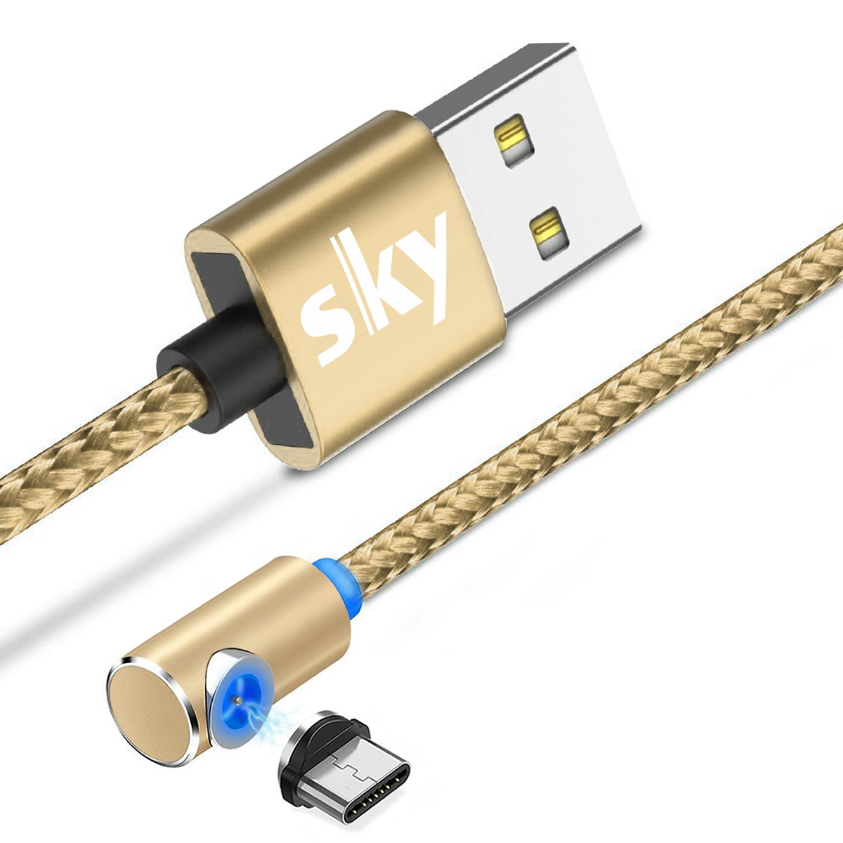 Магнітний кабель SKY type C (L) для заряджання (100 см) Gold