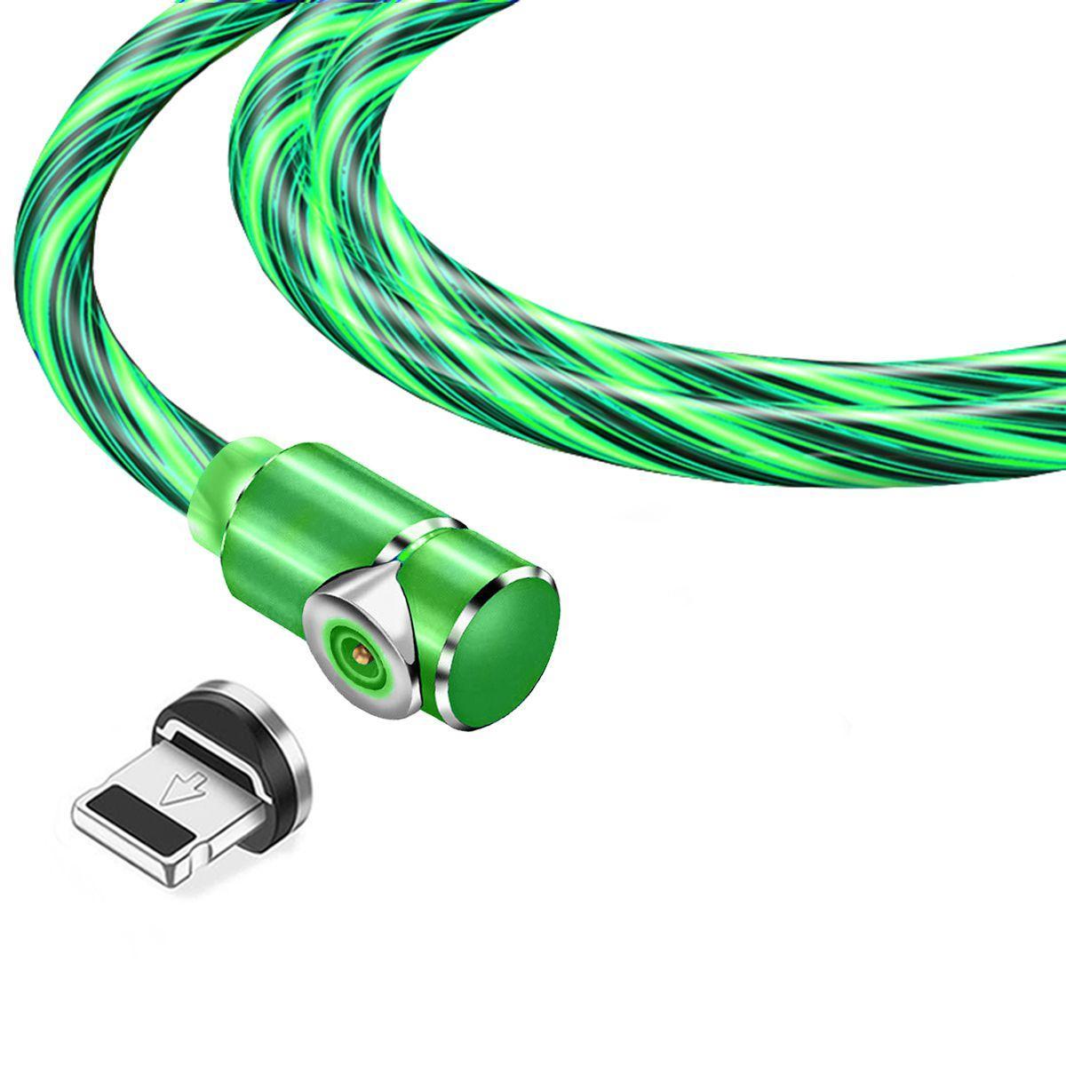 Магнитный кабель TOPK apple-lightning (LZ) для зарядки (100 см) Green