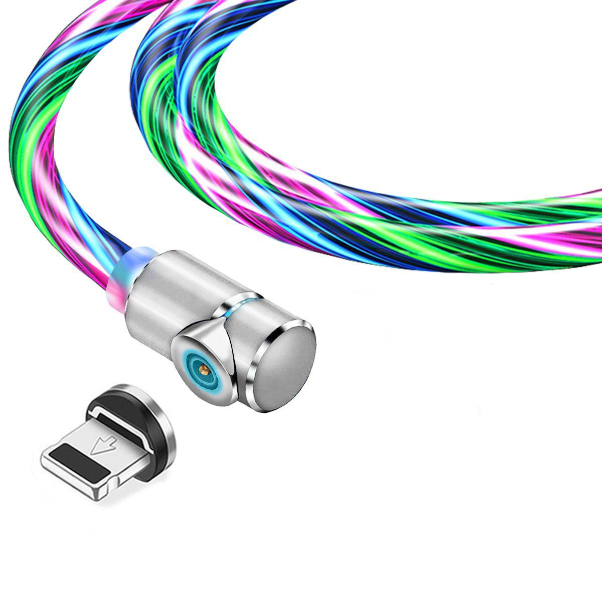 Магнитный кабель TOPK apple-lightning (LZ) для зарядки (100 см) RGB