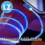 Магнитный кабель TOPK apple-lightning (LZ) для зарядки (100 см) RGB, фото 5