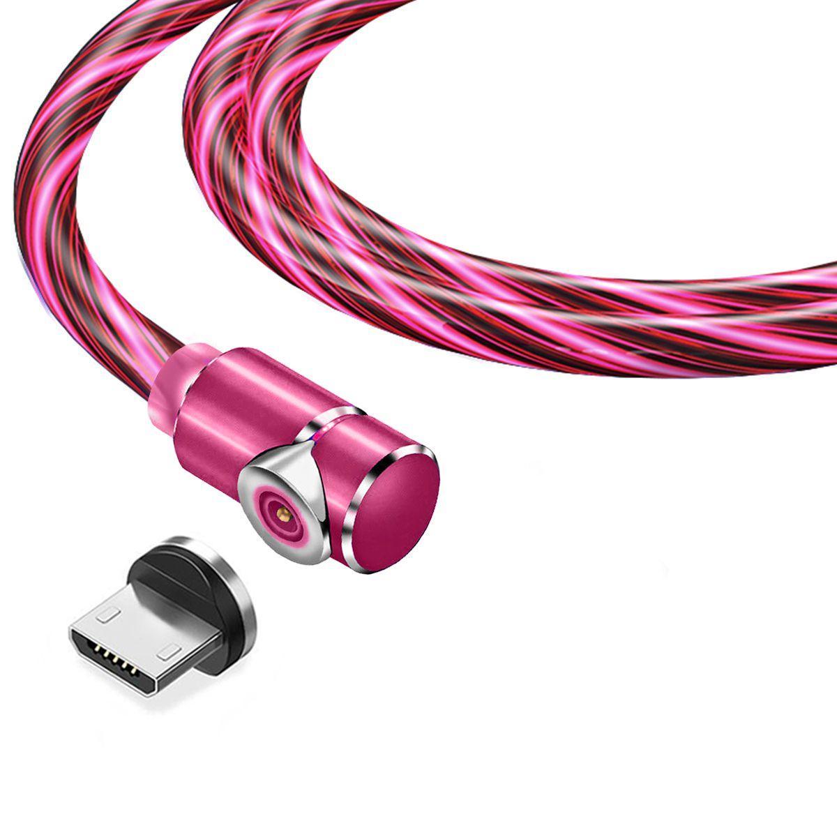 Магнітний кабель TOPK micro USB (LZ) для заряджання (100 см) Red