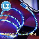 Магнітний кабель TOPK micro USB (LZ) для заряджання (100 см) Red, фото 5
