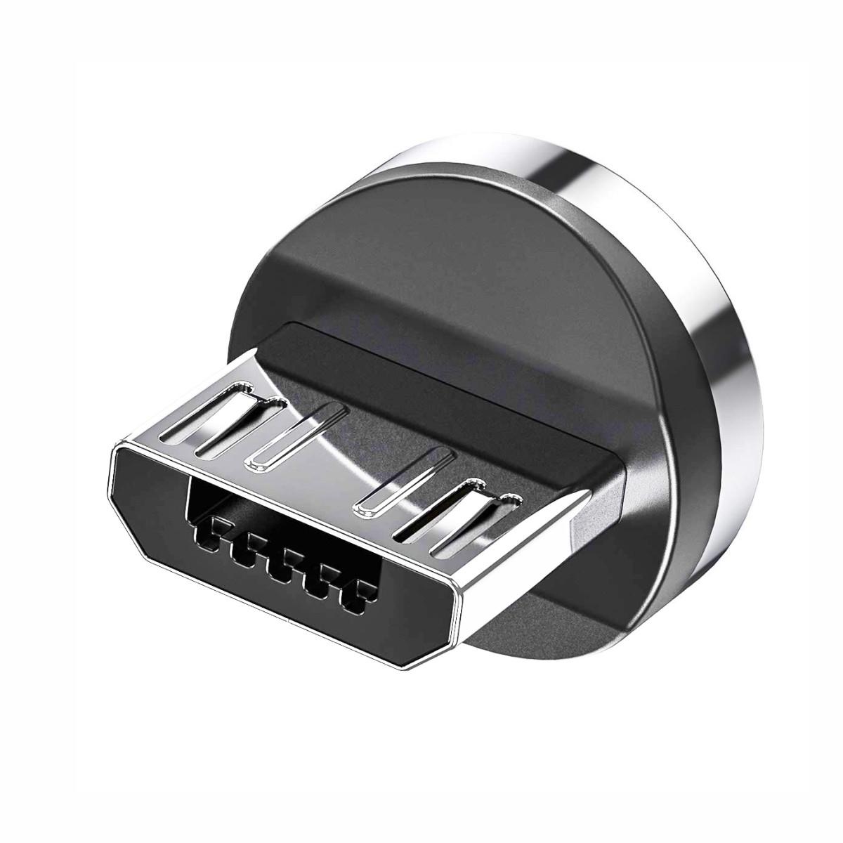 Магнитный коннектор TOPK micro USB (S Connect) с передачей данных (3pin)