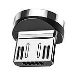 Магнітний коннектор TOPK micro USB (S Connect) з передачею даних (3pin), фото 4