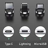 Магнитный коннектор TOPK micro USB (S Connect) с передачей данных (3pin), фото 6