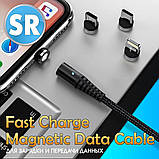 Магнитный кабель TOPK (AM68) без коннектора (SR 5A-30) для зарядки и передачи данных (100 см) Blue, фото 2
