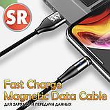 Магнітний кабель SKY (AM60) micro USB (SR 5A-201) для заряджання і передачі даних (100 см) Black, фото 5