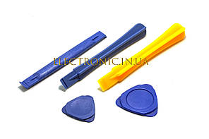 Лопатка і плектр для ремонту електроніки Набір з п'яти предметів