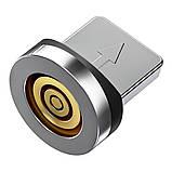 Магнітний кабель TOPK (AM68) apple-lightning (SR 3A-30) для заряджання і передачі даних (100 см) Black, фото 3