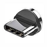 Магнітний кабель TOPK (AM68) type C (SR 3A-30) для заряджання і передачі даних (100 см) Black, фото 2