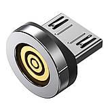 Магнитный кабель TOPK (AM38) 3в1 (SR 3A-40) для зарядки и передачи данных (100 см) Silver, фото 3