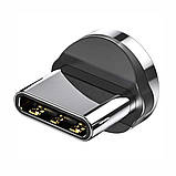 Магнитный кабель TOPK (AM38) 3в1 (SR 3A-40) для зарядки и передачи данных (100 см) Silver, фото 5