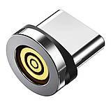Магнітний кабель TOPK (AM16) 3в1 (SRZ 5A) для заряджання і передачі даних (100 см) RGB, фото 6