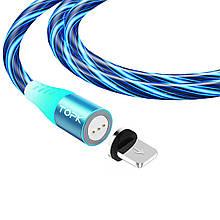 Магнітний кабель TOPK (AM16) apple-lightning (SRZ 5A) для заряджання і передачі даних (100 см) Blue